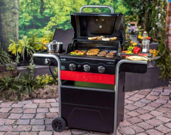New Char Broil Gas 2 Coal 3 Burner Charcoal Hybrid Grill Asador De Quemadores Y Carbón