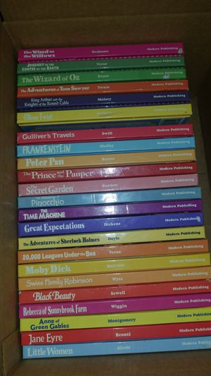 23 Hardcover Books from the Kids'/Young Adult Treasury of Ilustrated Classics Collection for Sale in Laveen Village, AZ