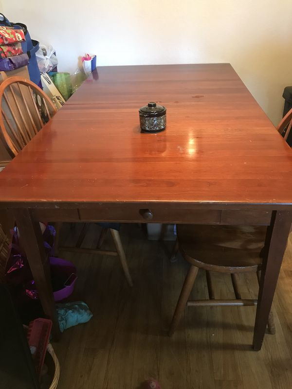 Beautiful Cherrywood Table With Chairs Includes Table Pads And - Table pads for sale