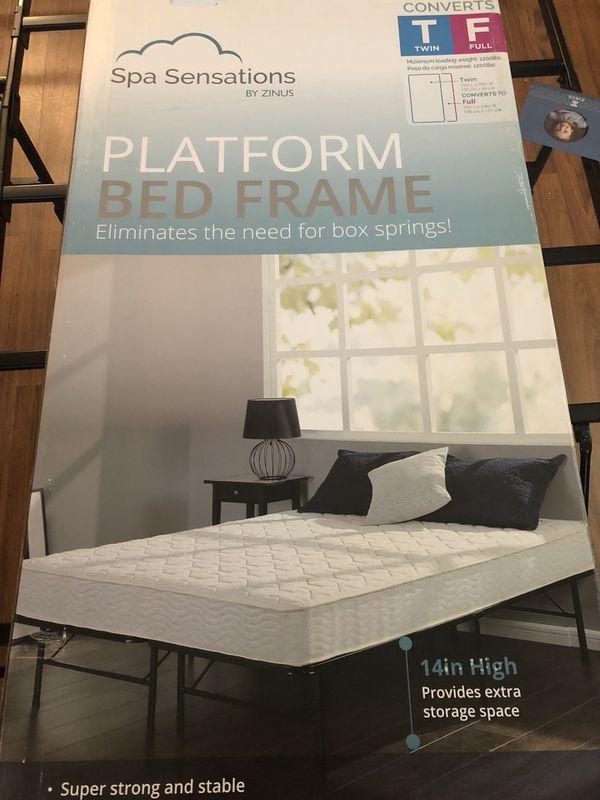 Zinus Spa Sensations Twin Full Platform Bed Frame For Sale In
