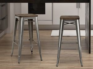 Set of 2 gunmetal bar height stools for Sale in San Diego, CA