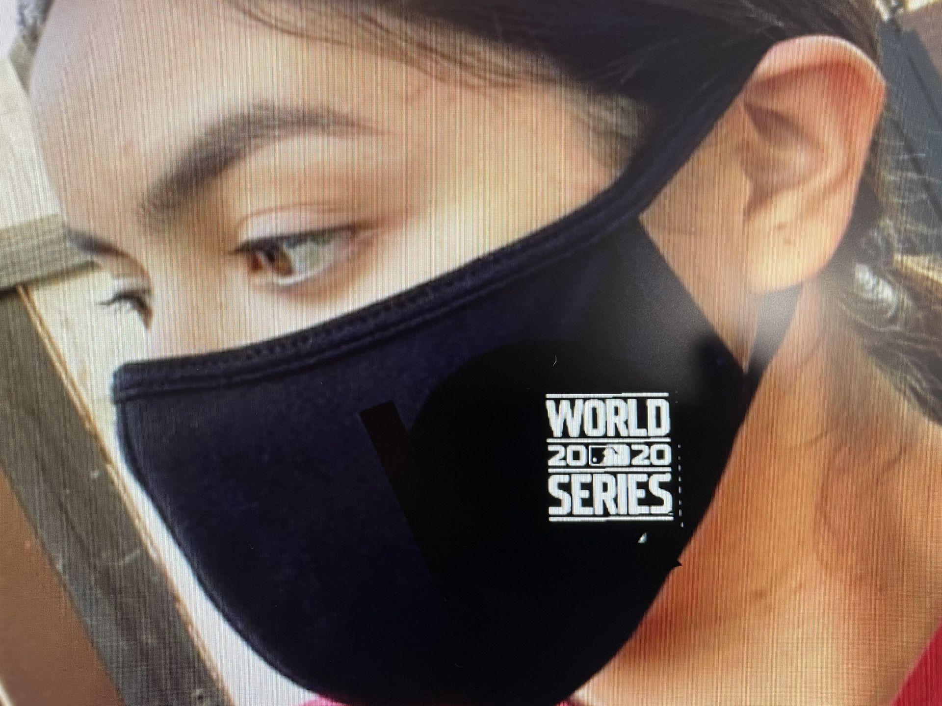 Dodgers World Series face masks
