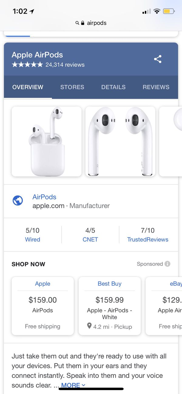 Apple AirPods White Brand New Sealed Box for Sale in San Marino, CA ...