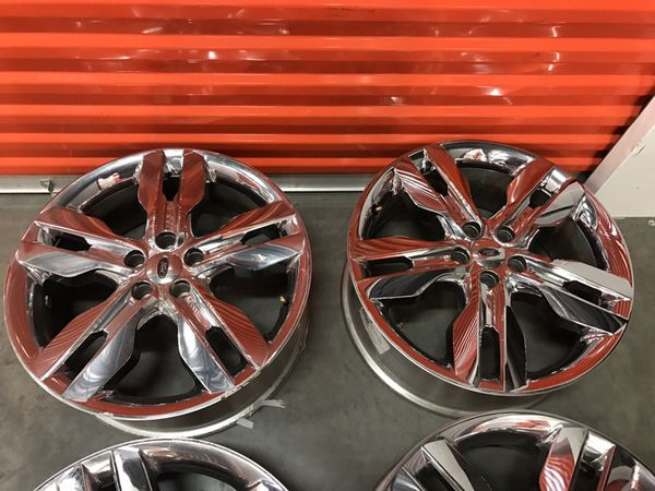Inch Ford Edge Wheels Rims Oem Stock Original Chrome Clad Suv Cars X  Auto Parts In Signal Hill Ca Offerup