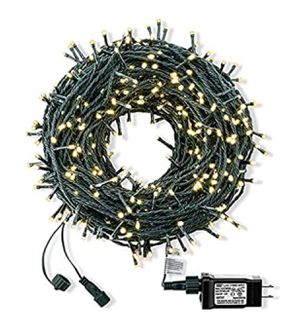 Photo Outdoor Christmas String Lights 300 LED 105ft,Warm White