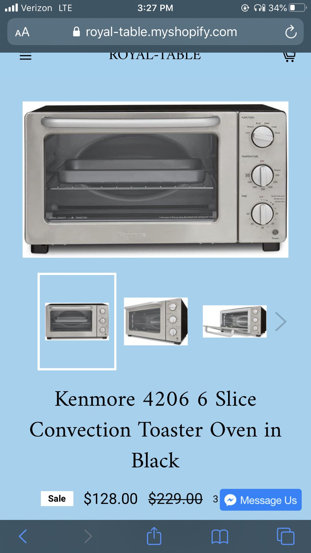 Kenmore Toaster Oven
