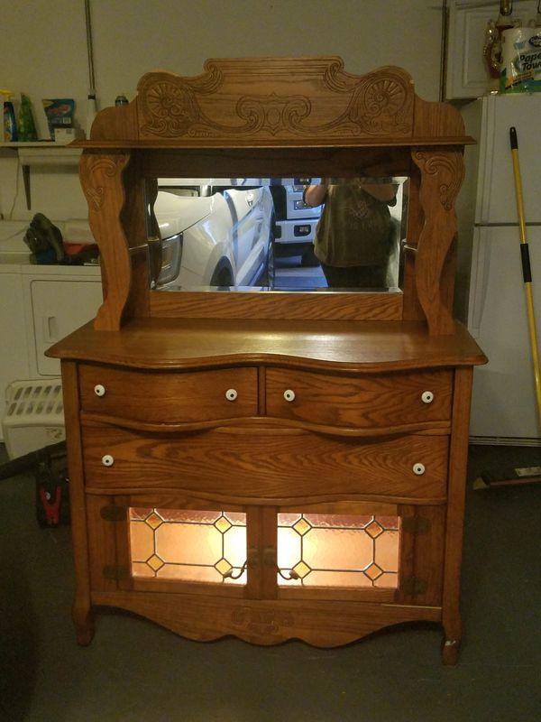 Antique Pulaski Furniture Keepsakes Golden Oak Hutch For Sale In