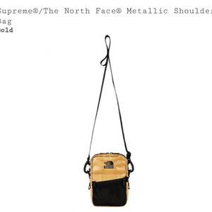 7979bbb67b4 Supreme x The North Face Shoulder Bag Gold for Sale in Westminster