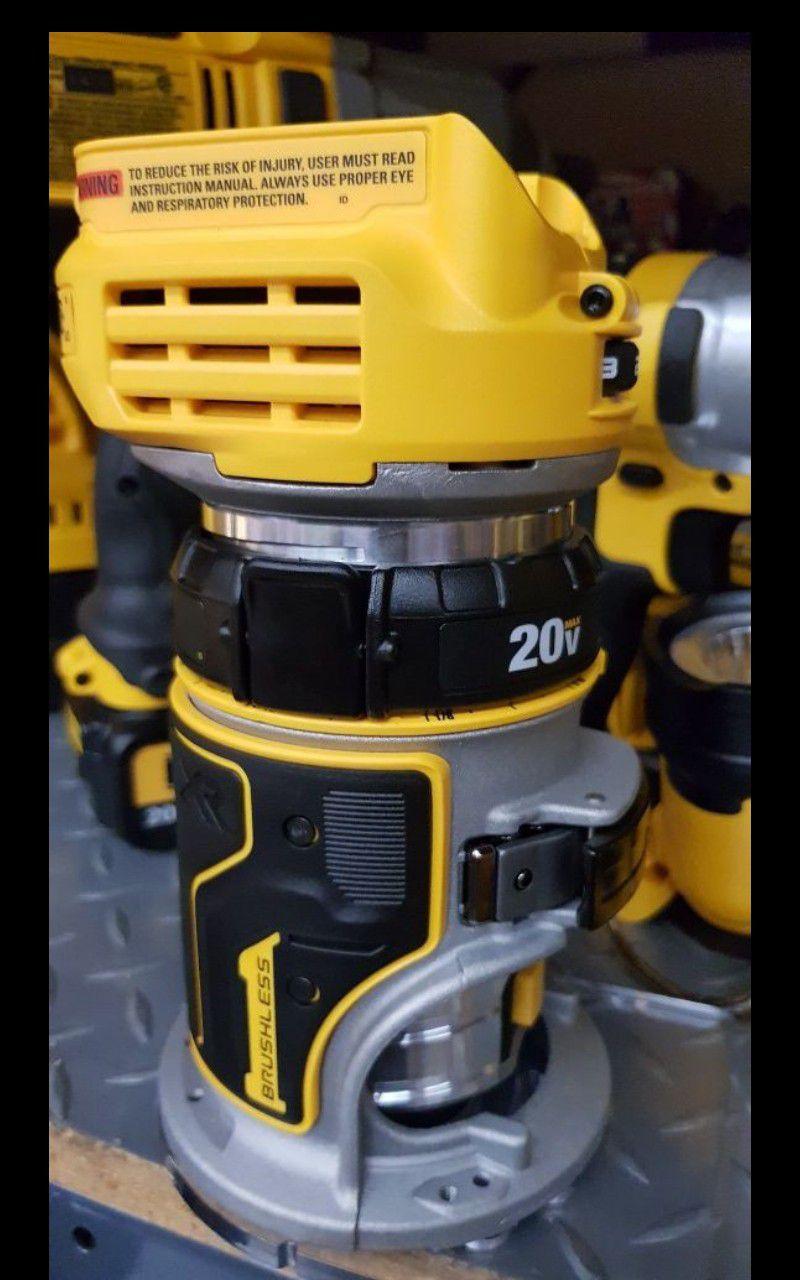 DEWALT 20V MAX XR BRUSHLESS ROUTER TOOL ONLY BRAND NEW