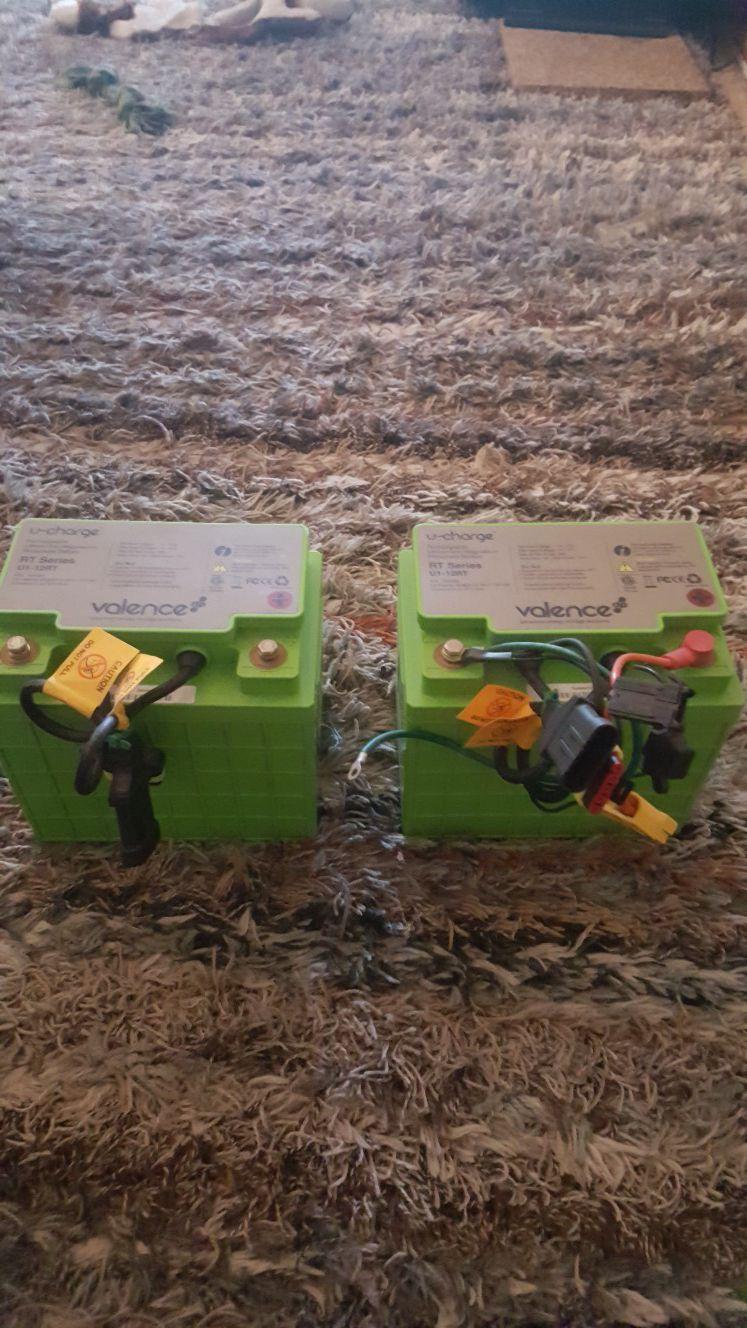 Valence U-charge plug n play 12v batteries