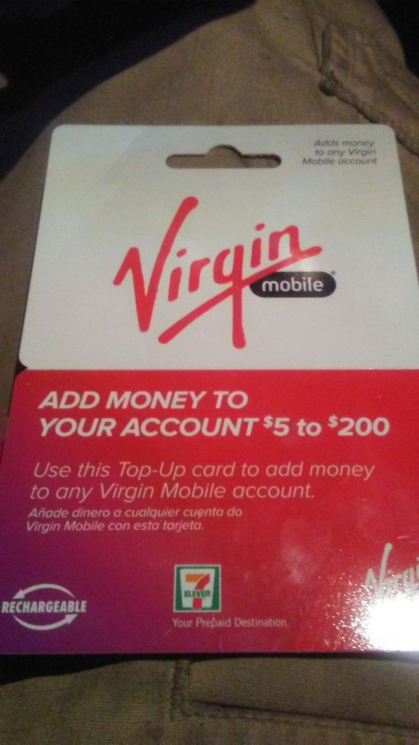 Virgin mobile phone card 20$ for Sale in Bothell, WA - OfferUp