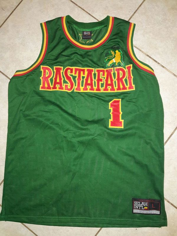 c9187cc67a8 Rastafari vintage basketball jersey size L by Selah international authentic  for Sale in Bloomington