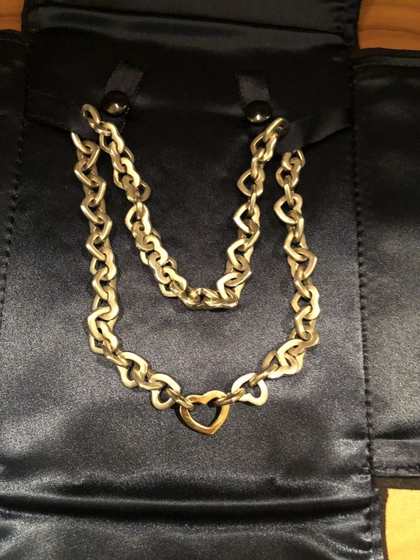 4a20d2ef6a0 Tiffany heart link necklace silver with 18kt gold heart for Sale in ...