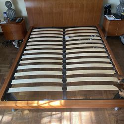 Queen Sized Wooden Bed Frame With 2 Night Stands And 6 Drawer Dresser Thumbnail