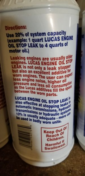 6 New, unopened quarts of Lucas Engine Oil Stop Leak for Sale in Killeen,  TX - OfferUp