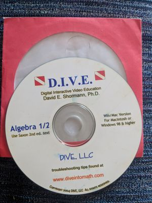 D.I.V.E Algebra 1/2 _ Saxon for Sale in Houston, TX