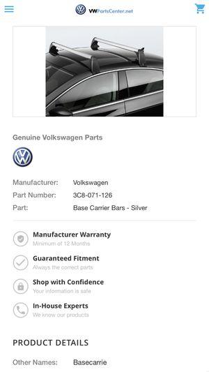Car Carrier Bars / Roof Rack Bars / VW LIKE NEW for Sale in Denver, CO