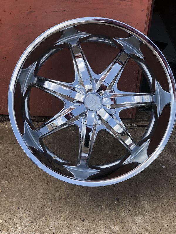 24 Inch Wheels Rims Truck Suv Chrome 5 Lug Bolt Pattern 127 Mm Or