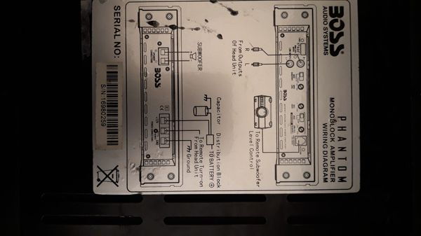New and Used Amplifiers for Sale in Lynnwood, WA - OfferUp Boss Ce Amplifier Wiring Diagram on