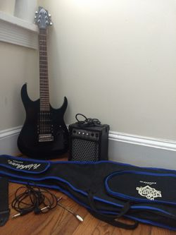 Washburn House of Blues Electric Guitar, amp, and tools Thumbnail