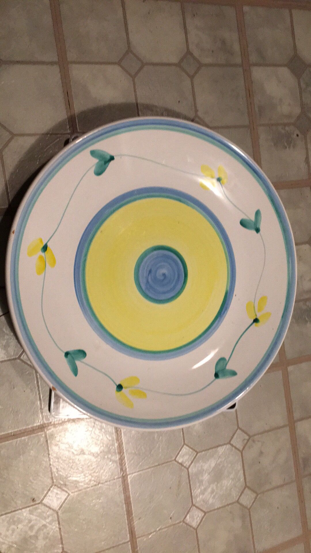 Hand made big plate with italy.