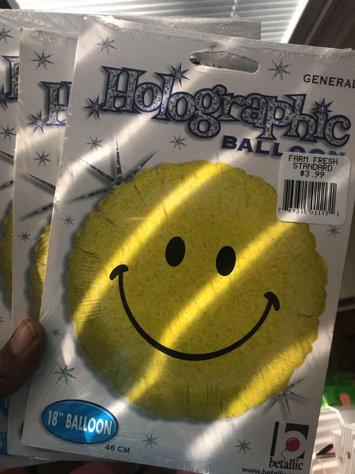 Smiley Mylar balloons