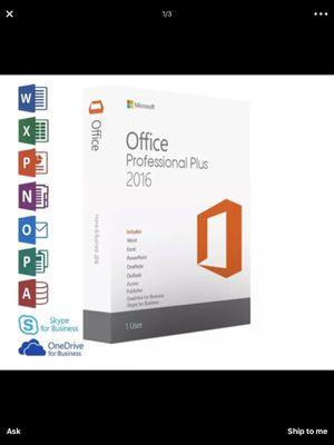 Office 2016 Pro Genuine License Key for Sale in San Francisco, CA