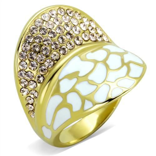 Plating Stainless Steel Ring Top GRD Crystal Clear SZ 7 TK1851-7
