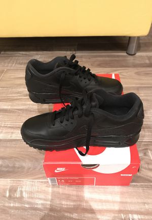 NIKE, Airmax 90 leather black, size: US 7 for Sale in Sterling, VA