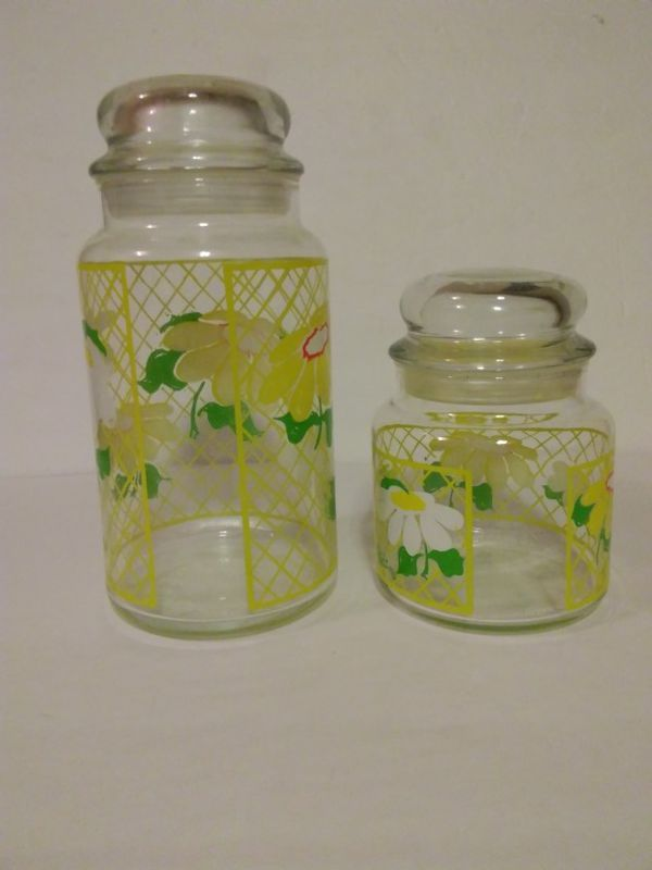 Hildi Glass Flower Jar Canisters for Sale in Sacramento CA OfferUp