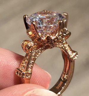 New 18 k rose gold Engagement ring wedding ring set for Sale in Orlando, FL