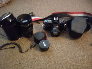 Sigma 135mm lens with vivtar converter and yashica camera for Sale in Alexandria, VA