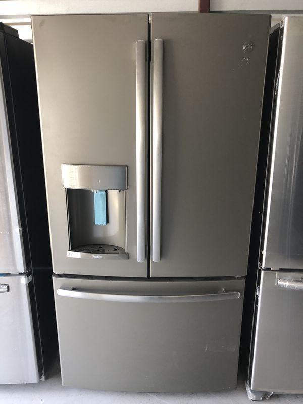 Brand New Ge Slate French Door Refrigerator With Keurig Coffee