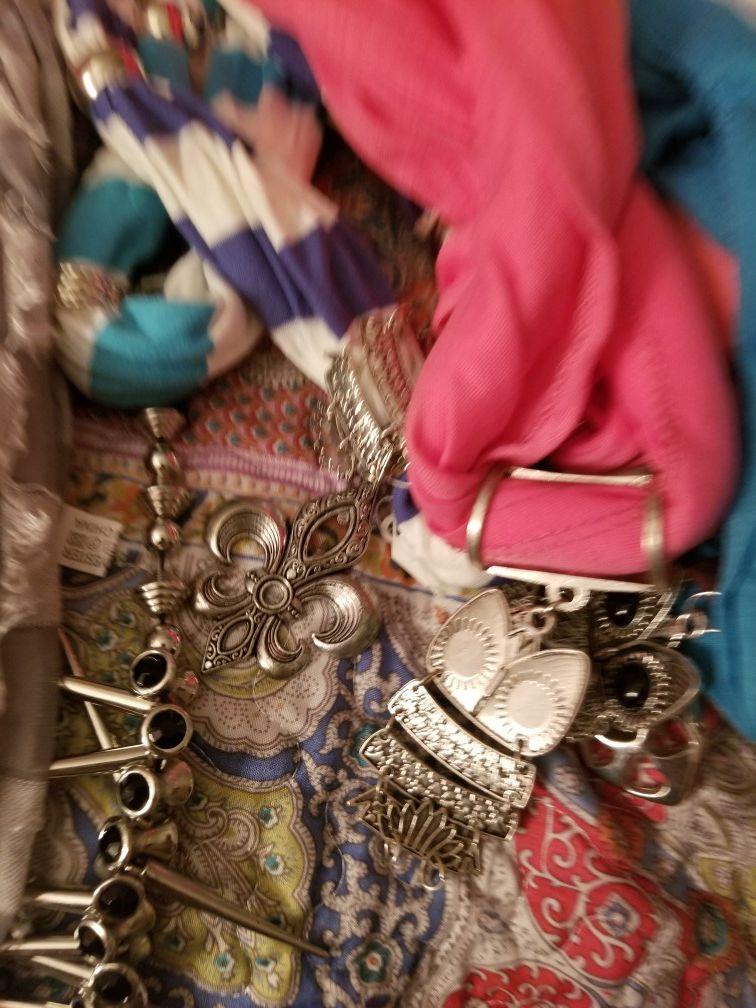 WHOLESALE PRICE - Jewelry Scarfs - $2 Each