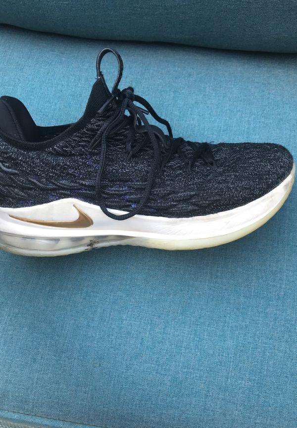 huge discount 8c450 346fa Nike LeBron 15 low. Black Metallic gold-phantom. Style AO1755-001. Release  date May, 2018    150. Men s size 8.5
