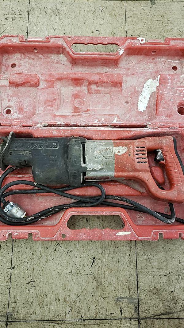 Milwaukee 6520 21 >> Milwaukee 6520 21 13 Amp Sawzall Orbital Recip Saw With Case For