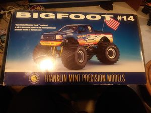 Bigfoot #14 scale 1:24 monter truck in its original box with all its collector paperwork $240 for Sale in Sumas, WA