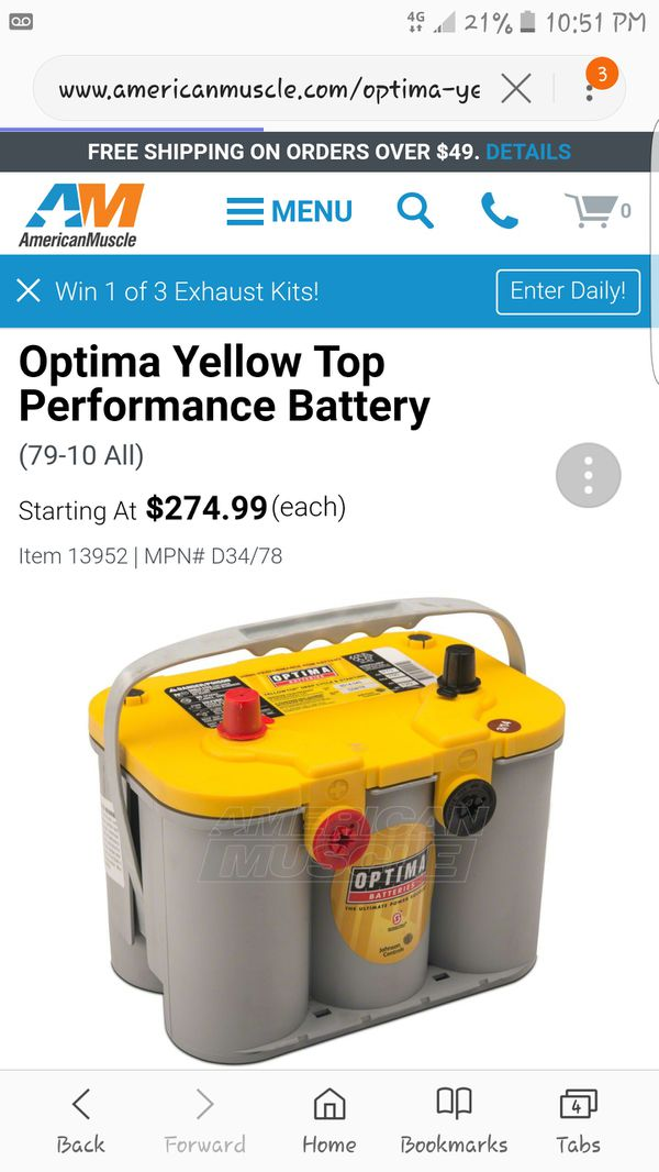 BRAND NEW YELLOW TOP DEEP CYCLE BATTERY for Sale in Redding, CA - OfferUp