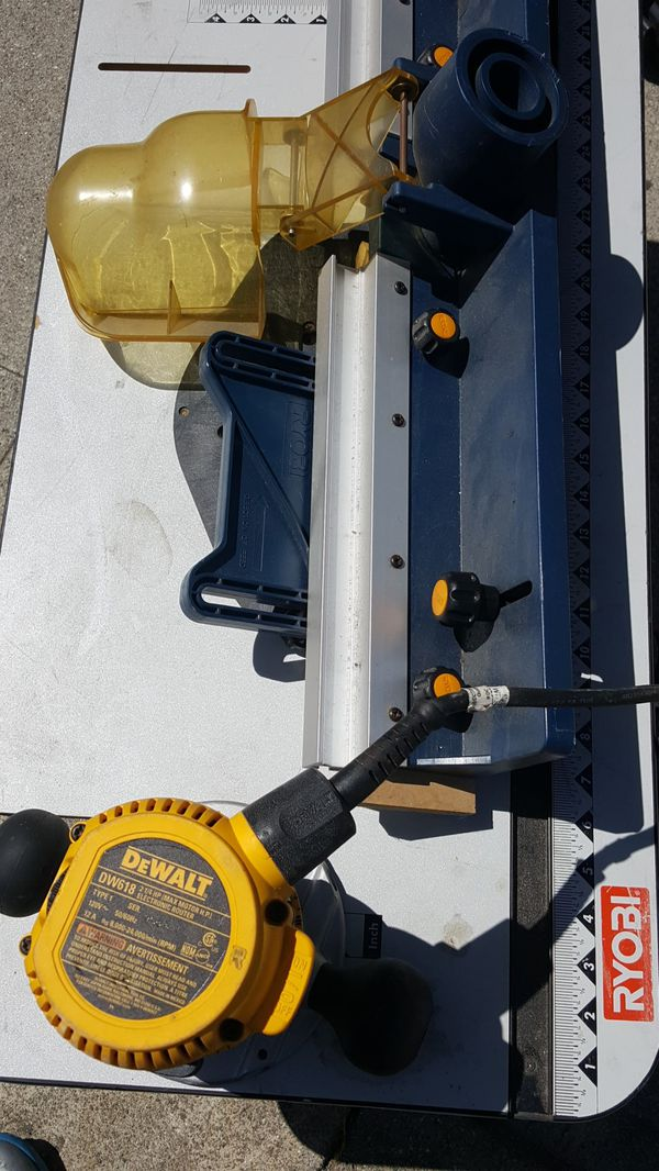 Router and table dw618 heavy duty dewalt for sale in oakland ca 150sold keyboard keysfo Choice Image