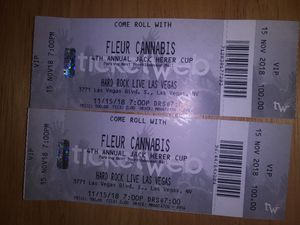 Fleur cannabis tickets 4th annual jack herer cup for Sale in Las Vegas, NV