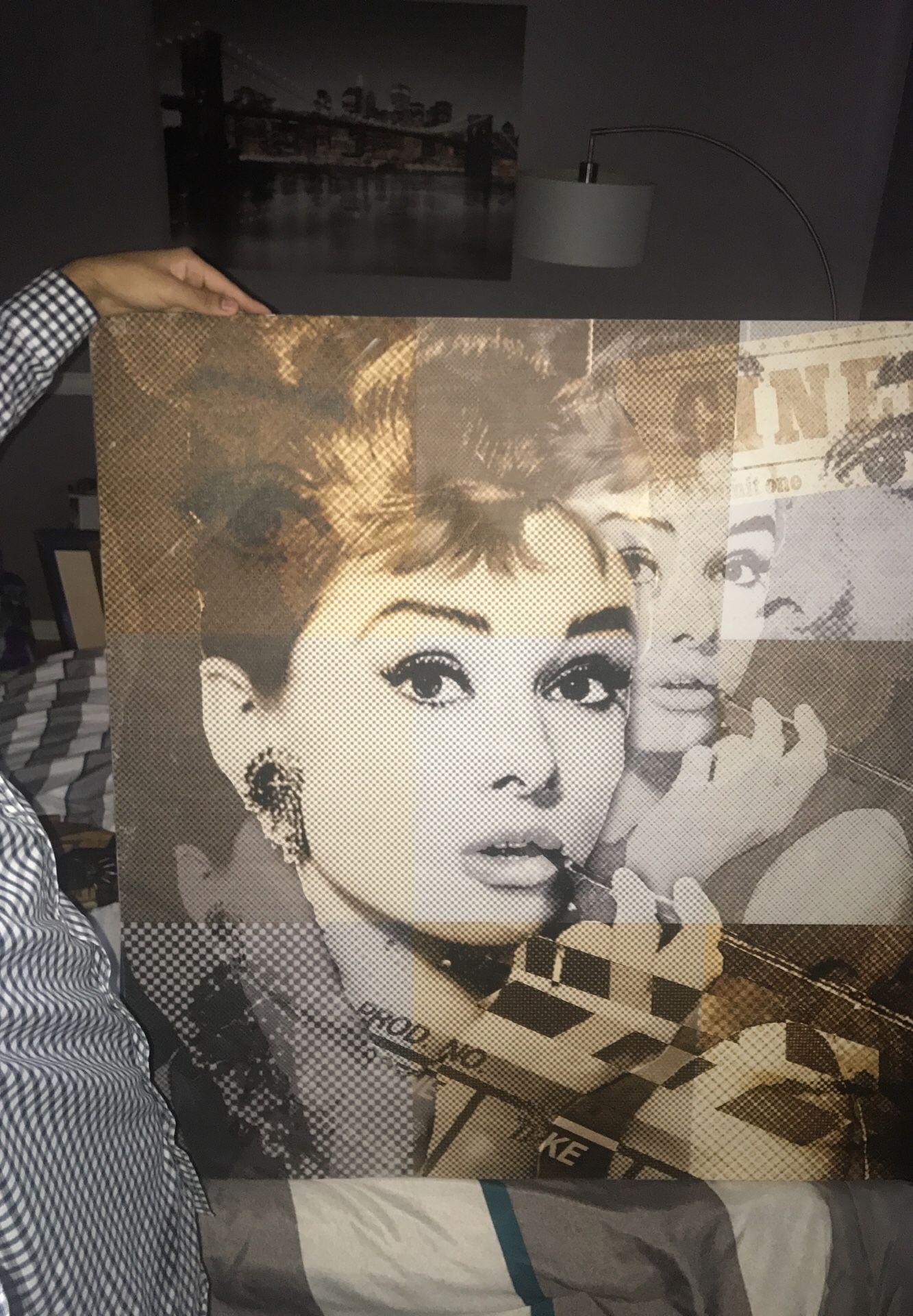 Beautiful portrait of famous actress