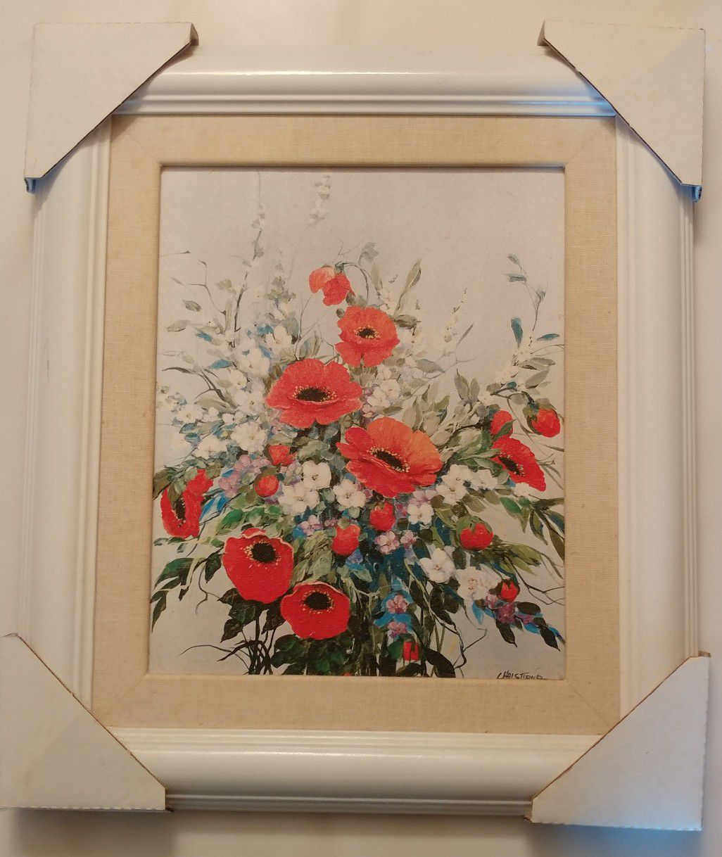 Limited Edition Framed Poppies Acrylic Print Artwork by Christiana 1 of 3
