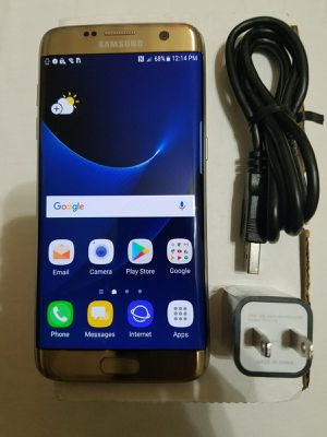 Galaxy S7 edge 32 GB gold T Mobile unlocked excellent condition for Sale in Laurel, MD