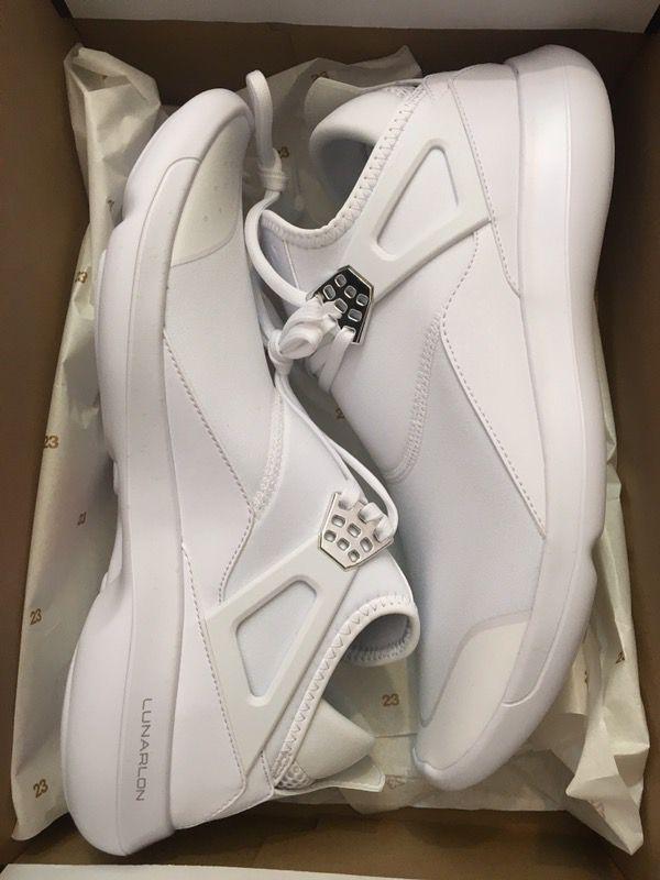 6c2d74213a59 New air Jordan fly 89 white pure money chrome shoe men size 8