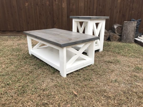 Wood Coffee And Side Table Rustic Farmhouse Furniture In Allen Tx Offerup