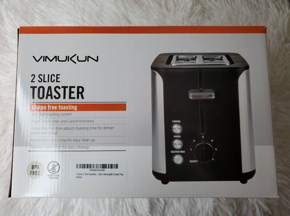 Vimukun Toaster 2 Slice Stainless Steel