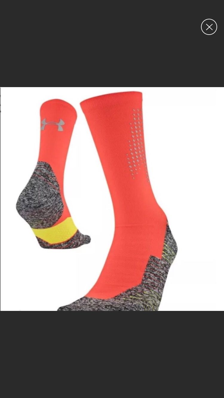 2 Pair of Reflective No Show Socks Fits size 8-12