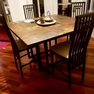 Fantastic Counter High Tile Top Table, 4 Comfortable Chairs, EXCELLENT CONDITION! for Sale in Woodbridge, VA