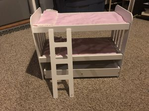 Doll sized bunk bed and trundle, fits American Girl for Sale in Clifton, VA