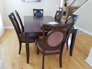Dining table set with extension for 12 peoples for Sale in Huntley, IL